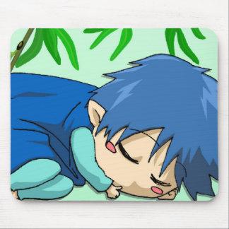 Fée somnolente de garçon tapis de souris