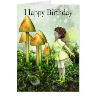 Fee-und Toadstools-Geburtstags-Karte Grußkarte