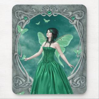 Fée verte Mousepad de pierre porte-bonheur Tapis De Souris