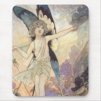 Fée victorienne vintage par Charles Robinson, 1911 Tapis De Souris