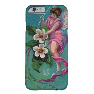 Fée vintage de fleur d'aiguille de couture coque iPhone 6 barely there