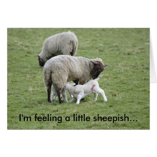Feeding_Lambs, bin ich Gefühl ein ängstliches Grußkarte