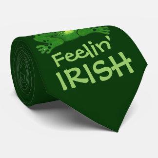 Feelin irischer lustiger Frosch - Krawatte