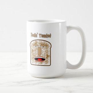 Feelin röstete Cartoontoast Kaffeetasse
