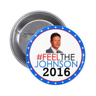 #feelthejohnson Gary Johnson 2016 Runder Button 5,7 Cm