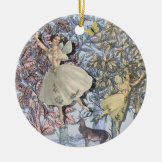 Feen im magischen Wald Keramik Ornament