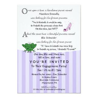 Feenhafte Geschichten-Spaß-Verlobungs-Party-12x18 12,7 X 17,8 Cm Einladungskarte