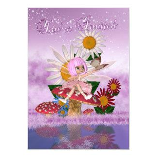 Feenhafte Prinzessin Birthday Party - feenhaftes 12,7 X 17,8 Cm Einladungskarte