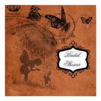 Feenhafter Garten-Wedding Brautparty-Einladung Quadratische 13,3 Cm Einladungskarte
