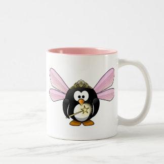 Feenhafter Pinguin Zweifarbige Tasse