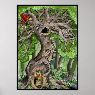 Feenhaftes Baum-Zuhause Poster