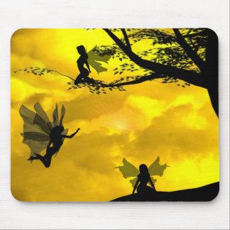 Fées dans le mousepad d'arbres tapis de souris