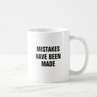Fehler sind gemacht worden kaffeetasse