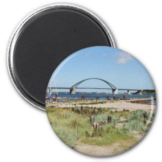 Fehmarnsundbrücke Runder Magnet 5,7 Cm
