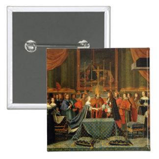Feier der Heirat von Louis XIV Quadratischer Button 5,1 Cm