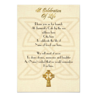 Feier des keltischen Knotens u. des Kreuzes Leben Karte