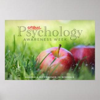 Feiern des Schulpsychologie-Wochen-Plakats Poster