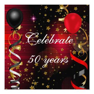 Feiern Sie 50 50. Quadratische 13,3 Cm Einladungskarte