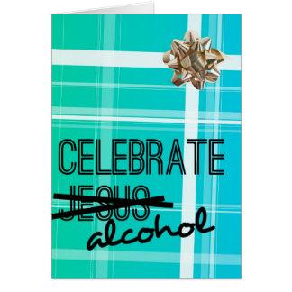 Feiern Sie Alkohol Karte