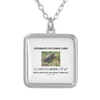 Feiern Sie am 23. Oktober, das Mole wirklich an Halskette Mit Quadratischem Anhänger