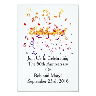Feiern Sie Confetti Karte