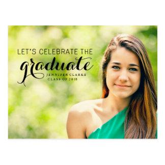 Feiern Sie die graduierte Foto-Postkarte Postkarte