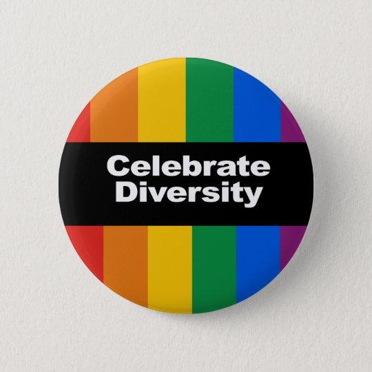Feiern Sie Diversity 2 Runder Button 5,7 Cm