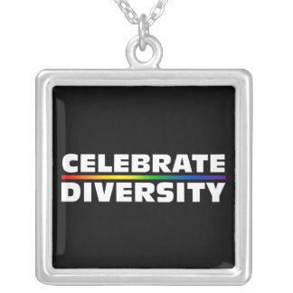 Feiern Sie Diversity-Halskette Halskette Mit Quadratischem Anhänger