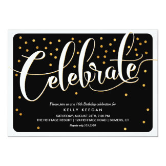 Feiern Sie Einladung-Klassische Akzente des 12,7 X 17,8 Cm Einladungskarte