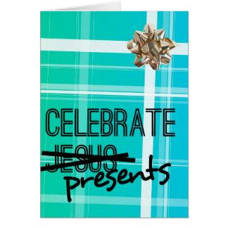 Feiern Sie Geschenke Grußkarte