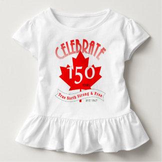 Feiern Sie Kanada 150 Jahre Kleinkind T-shirt