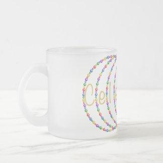 Feiern Sie Licht-Entwurf im Gold Mattglastasse