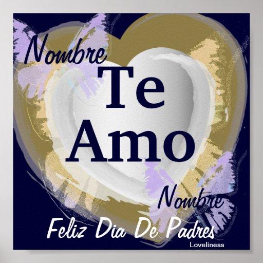 Feiern Sie Liebe-/Vatertags-[spanisches] Plakat