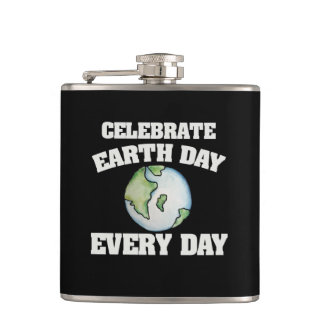 Feiern Sie Tag der Erde jeden Tag Flachmann