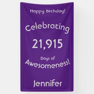 Feiern von 21.915 Tagen von Awesomeness Geburtstag Banner