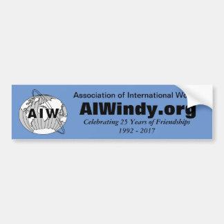Feiern von 25 Jahren Freundschaften, AIW Logo Autoaufkleber