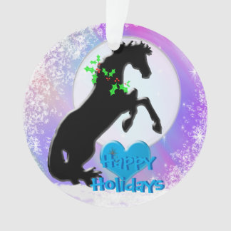 Feiertag der Herz-Pferdv (bunter Dunst) Ornament