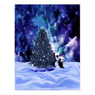 Feiertag des Pandas Weihnachtsbeim Nordpol Postkarte