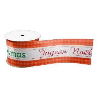 Feiertag Joyeux Noël frohe Weihnacht-Verpackung Satinband