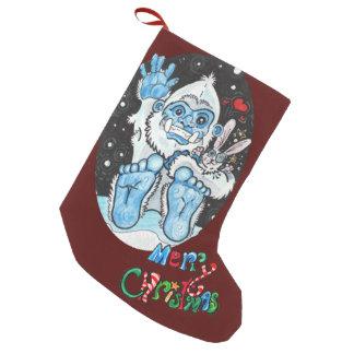Feiertag umarmt Yeti! Kleiner Weihnachtsstrumpf