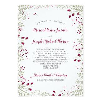 Feiertag verzweigt sich Hochzeits-Einladung Karte