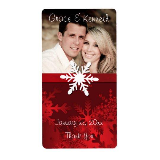 Feiertag, Winter-Hochzeit, kundenspezifisches Versandetikett
