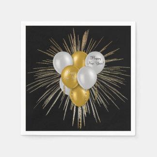 Feiertage - guten Rutsch ins Neue Jahr-Ballone Papierserviette