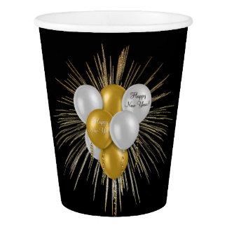 Feiertage - guten Rutsch ins Neue Jahr-Ballone Pappbecher