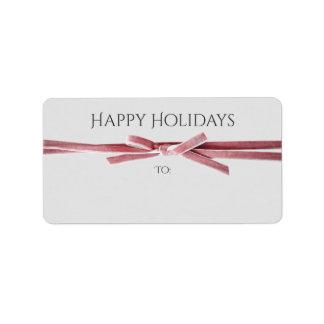 Feiertage wenden sich, oder Geschenk beschriftet | Adressetikett
