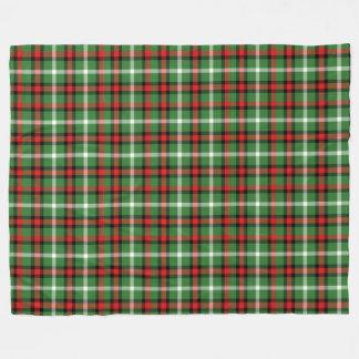 Feiertagkarierte Tartan-Weihnachtsthrow-Decke Fleecedecke