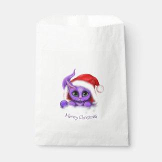 Feiertaglila Kitty Meowy Weihnachten Geschenktütchen