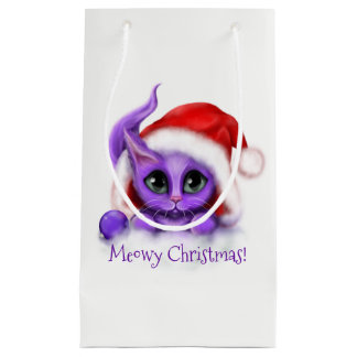Feiertaglila Kitty Meowy Weihnachten Kleine Geschenktüte