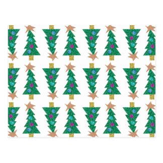 Feiertags-Baum-Postkarte Postkarte