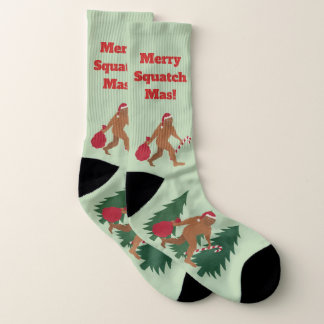 Feiertags-Bigfoots LRG Sankt Squatch hässliches Socken